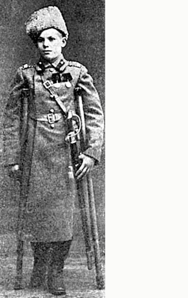 Тринадцатилетний доброволец Иосиф Гутман, награжденный серебряной медалью. Фото опубликовано вжурнале «Новый восход», № 8. 27 февраля 1915