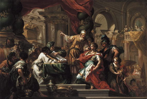 Себастьяно Конча. Александр Македонский вИерусалимском храме. 1735–1737. Музей Прадо, Мадрид