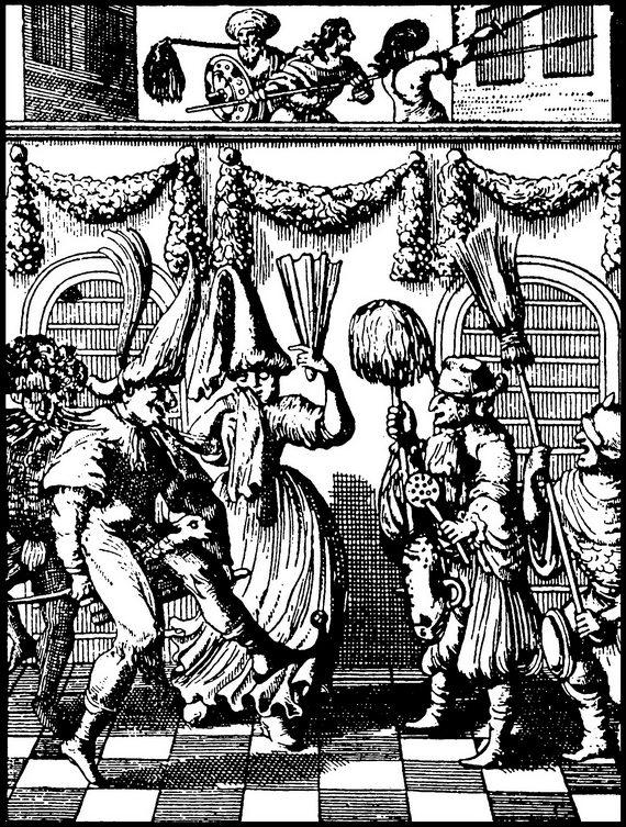 Пуримшпиль. Гравюра намеди. 1657