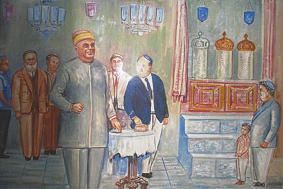 Фреска винтерьере синагоги вКочине