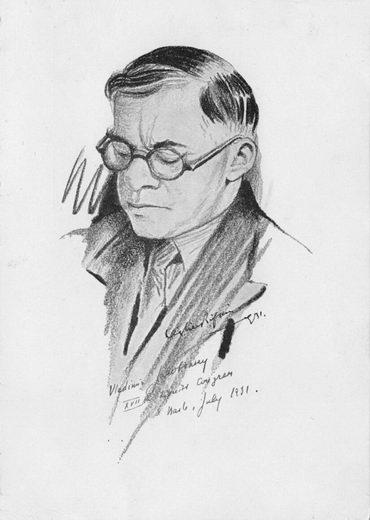 Почтовая открытка сизображением В.Жаботинского. 1931