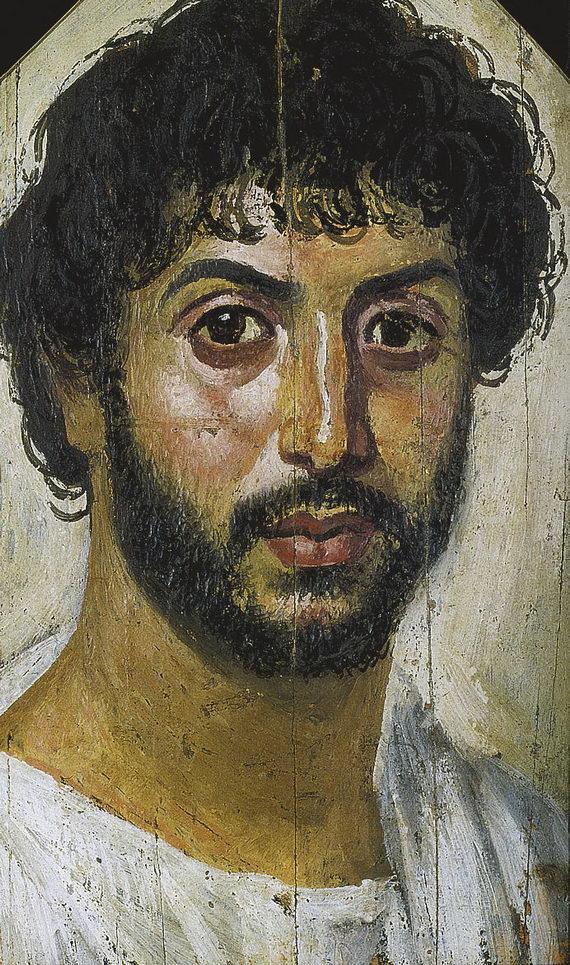 Фаюмский портрет I–IIвека н.э.Так называемый «Ilbello», «Красавец». ГМИИ им.А.С.Пушкина