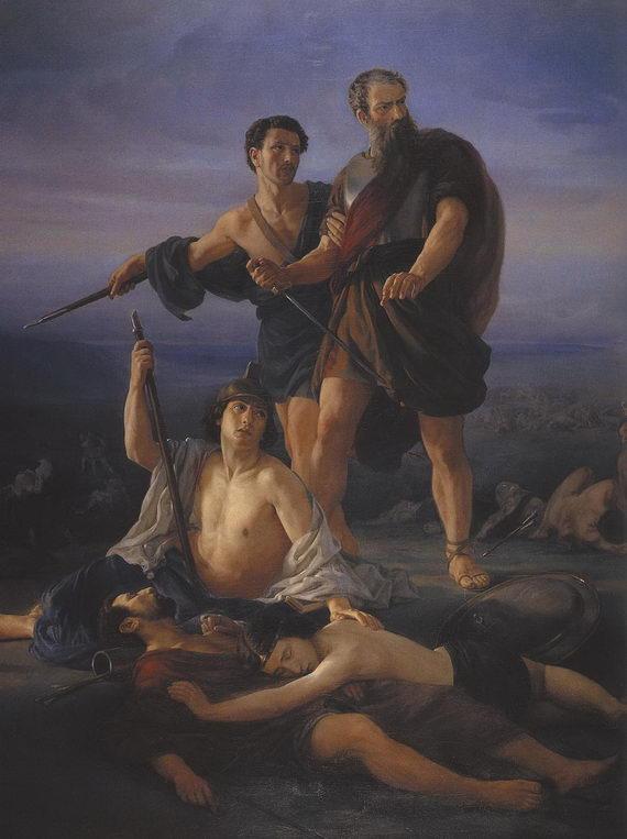Эли Маркузе. Смерть царя Шауля. 1848. Тель‑Авивский музей изобразительных искусств