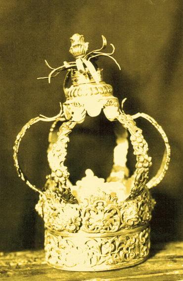 Кесер‑тойре (корона для свитка Торы). Фотография С.Юдовина. 1913. Фотоархив экспедиций С.Ан‑ского. Центр «Петербургская иудаика»