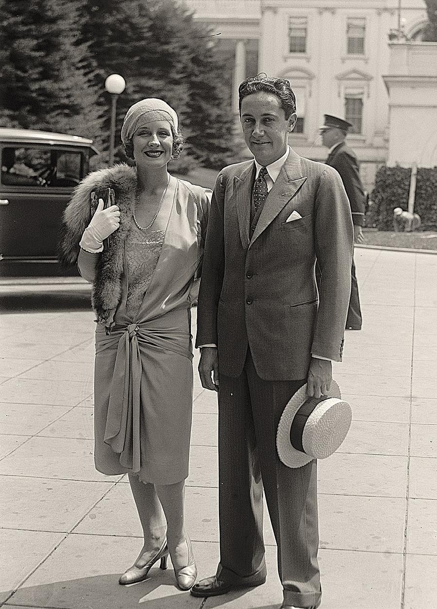 Ирвинг Тальберг и его жена, Норме Ширер. 24 июля 1929